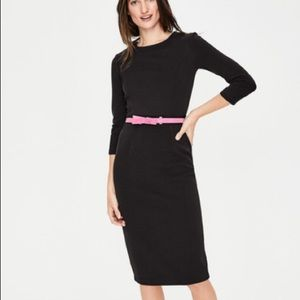 Boden Mia Ottoman Dress, Black, 14, NWT